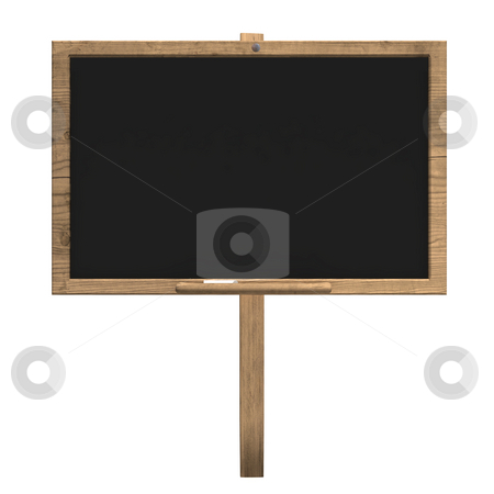 Old wood blackboard stock photo, Old wood blackboard isolated over white, by Magnus Johansson
