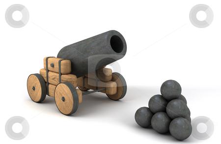 Vintage cannon stock photo, Vintage cannon. 3d render by Magnus Johansson