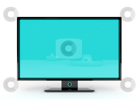 Flat Lcd Tv stock photo, Flat Lcd tv/monitor on white background with light shadows for better depth. by Magnus Johansson