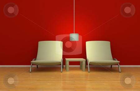 Simple interior design stock photo, Modern simplistic interior design, 3d render by Magnus Johansson
