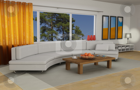 Livingroom interior stock photo, Livingroom interior by Magnus Johansson