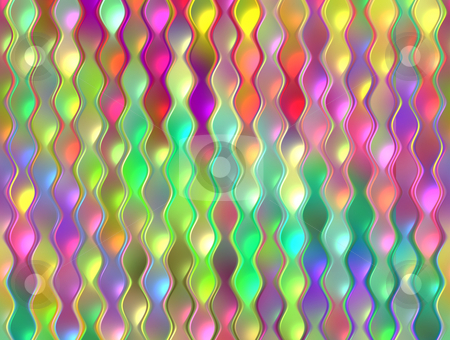Colorful garland pattern stock photo, Texture of waving bright colored vertical strings by Wino Evertz