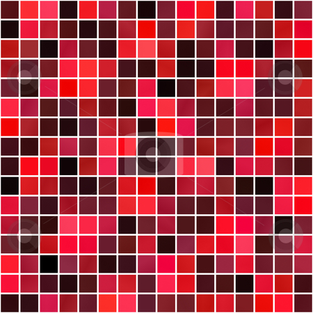 Red squares pattern stock photo, Seamless texture of red block tiles with white mortar by Wino Evertz