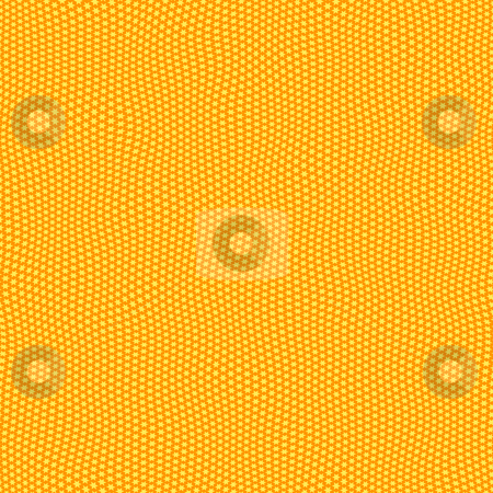 Festive star pattern stock photo, Seamless texture of repeating small yellow stars on orange by Wino Evertz