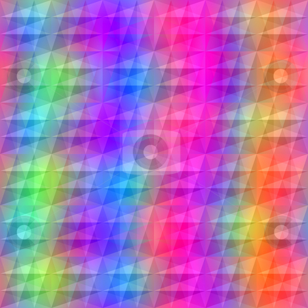 Vibrant transparent triangles  stock photo, Seamless texture of repeating transparent triangle shapes in bright colors by Wino Evertz