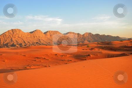 Sunset in the Desert stock photo, Desert by Roman Kalashnikov