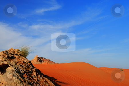 Sunset in the Desert stock photo, Desert by Roman Kalashnikov