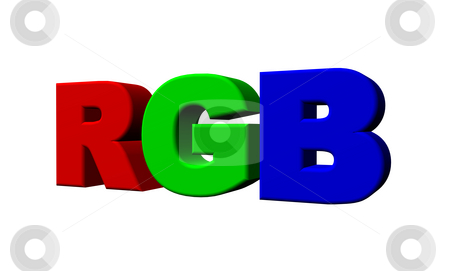 Rgb stock photo, The letters rgb on white background - 3d illustration by J?