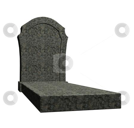 Grave stock photo, Marple grave stone on white background - 3d illustration by J?