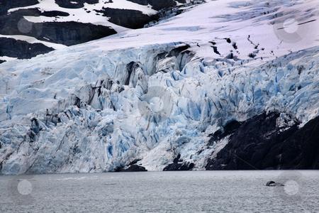 Blue Portage Glacier Lake Anchorage Alaska stock photo, Blue Portage Glacer Lake Anchorage, Alaska by William Perry