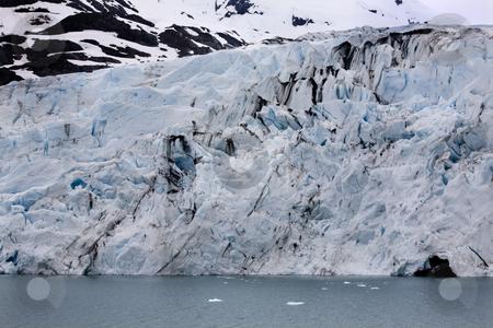Portage Glacier, Blue Ice Water Anchorage Alaska stock photo, Blue Ice Water White Snow, Portage Glacier, Anchorage, Alaska by William Perry