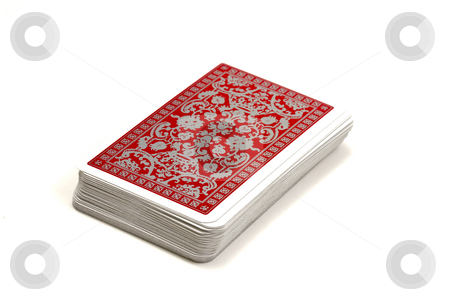 Playing cards stock photo, Playing cards isolated on white by Ingvar Bjork