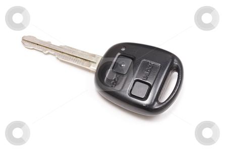 Car key stock photo, A car key isolated on white. by Ingvar Bjork