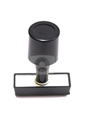 Rubber stamp stock photo, Rubber stamp isolated on white by Ingvar Bjork