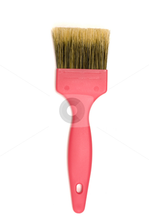Paintbrush stock photo, Paintbrush isolated on white background by Ingvar Bjork