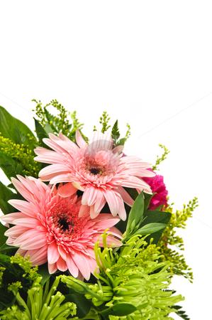 Flower arrangement stock photo, Close up of floral arrangement with pink gerberas by Elena Elisseeva