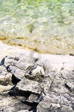 Rocks at Georgian Bay stock photo, Rock patterns at shore of Georgian Bay by Elena Elisseeva