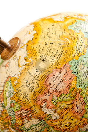 Globe - Russia stock photo, Part of a globe with map of Russia by Elena Elisseeva