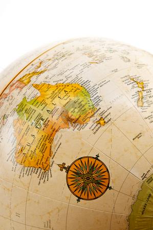Globe - Australia stock photo, Part of a globe with map of Australia by Elena Elisseeva