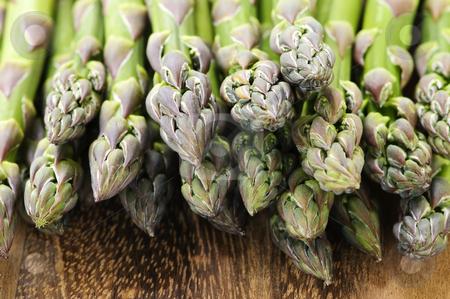 Asparagus stock photo, Close up of fresh green organic asparagus by Elena Elisseeva