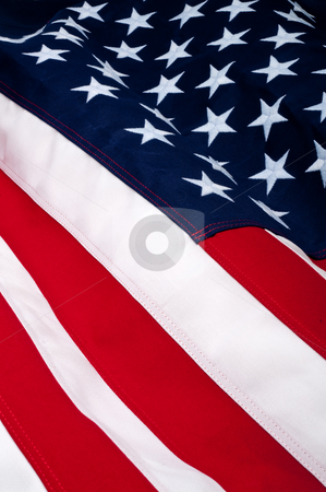 Close up of an American Flag stock photo, Close up of an American Flag by Vince Clements