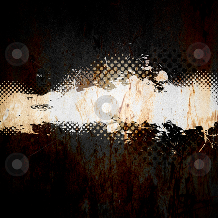 Grungy Splatter Template stock photo, An abstract paint splatter background texture with lots of copy space. by Todd Arena