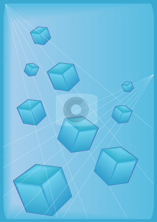 Blue Block Background stock vector clipart, Vector Illustration of 3-D blue blocks on a blue background. by Robert Gebbie