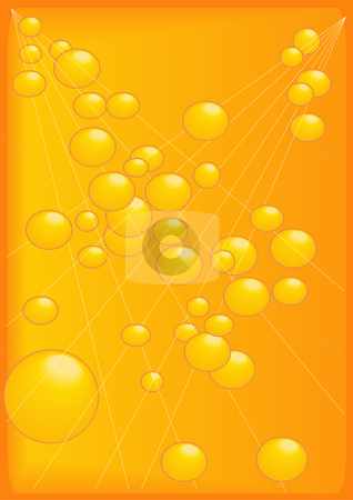 Gold Beads and Strand Background stock vector clipart, Vector Illustration of an abstract background image of gold beads on strands. by Robert Gebbie
