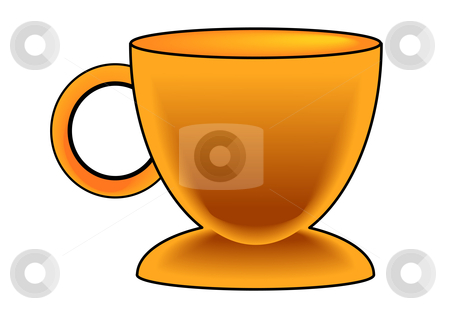 Gold Coffee Cup stock vector clipart, Vector Illustration of a golden colored coffee cup. by Robert Gebbie
