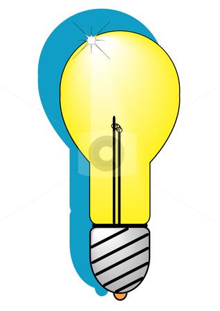 Incandescent Light Bulb stock vector clipart, A vector illustratiion of a incandescent light bulb by Robert Gebbie