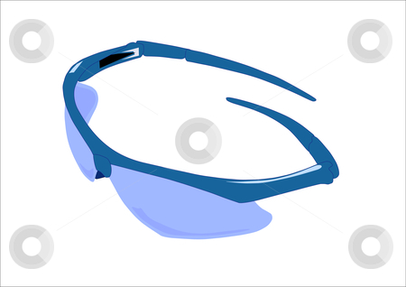 Sunglasses stock vector clipart, Vector illustration of a pair of sporty style sunglasses. by Robert Gebbie