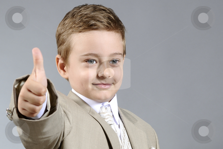 Ok boy stock photo, Little boy showing his ok attitude by Dragos Iliescu