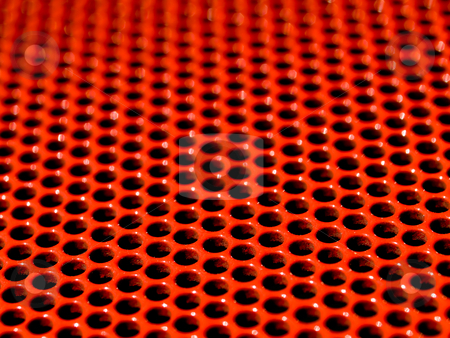 Red grid stock photo, Macro picture of a red metallic grid by Laurent Dambies