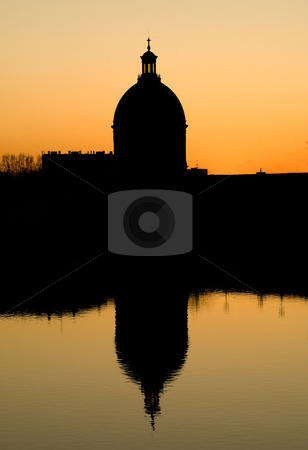 Architecture in Toulouse stock photo, Architecture of la Grave hospital of Toulouse at at sunset by Laurent Dambies