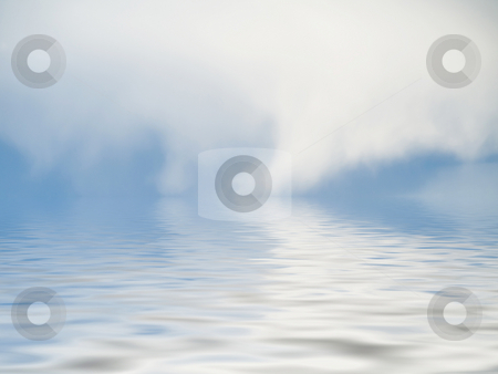 Dreamy  background stock photo, Thin clouds reflecting in a pool of water by Laurent Dambies