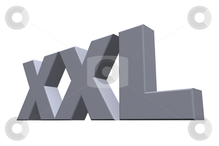 Xxl stock photo, The letters XXL on white background - 3d illustration by J?