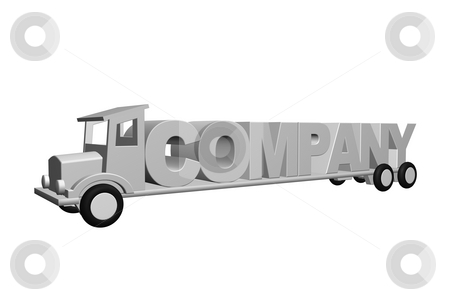 Company stock photo, The word company on an old truck - 3d illustration by J?
