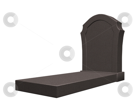 Grave stock photo, Marple grave stone on white background - 3d illustration by J?