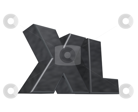 Xl stock photo, The letters XL on white background - 3d illustration by J?