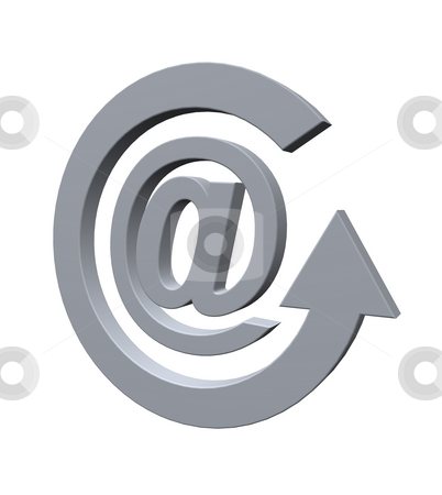 Email stock photo, Email alias and cycle pointer - 3d illustration by J?