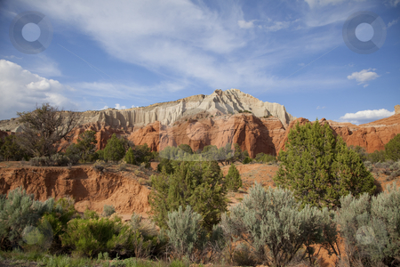 Kodachrome Basin stock photo, View of the red rock formations in Kodachrome Basin with blue skys and clouds by Mark Smith