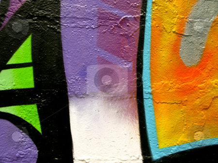 Segment of graffiti stock photo, Segment of graffiti on a wall of a derelict building by Antony Zacharias