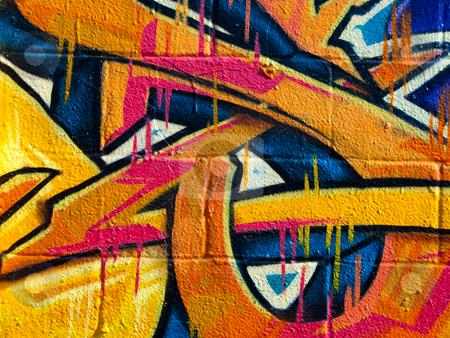 Segment of graffiti stock photo, Segment of graffiti on  the side of a derelict building by Antony Zacharias