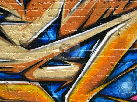 Segment of graffiti stock photo, Segment of graffiti on a wall of a derelict building by Antony Zacharias