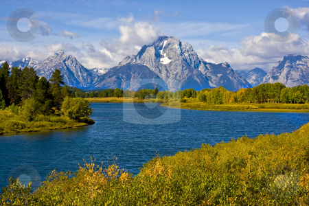 Grand Teton National Park stock photo, Oxbow Bend in Grand Teton National Park by Mark Smith
