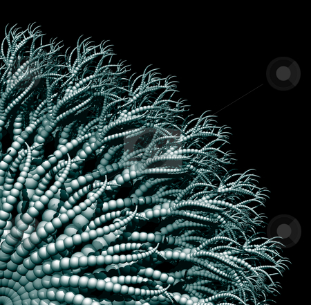 Tentacles stock photo, Abstract organic form on black background - 3d illustration by J?