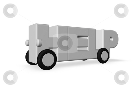 Help stock photo, The word help on wheels on white background - 3d illustration by J?