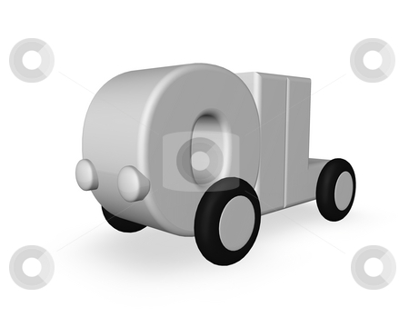Oil stock photo, The word oil on wheels on white background - 3d illustration by J?