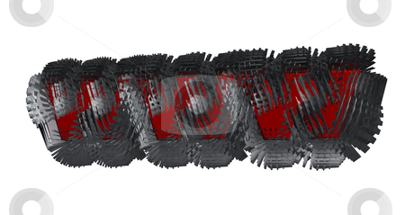Www stock photo, Abstract metal construction with red www letters inside on white background - 3d illustration by J?