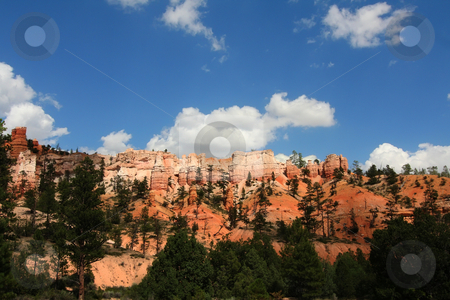 Redrock Canyon stock photo, View of the red rock formations in Bryce Canyon National Park by Mark Smith
